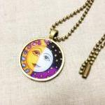 Full Moon Necklace, Handma..