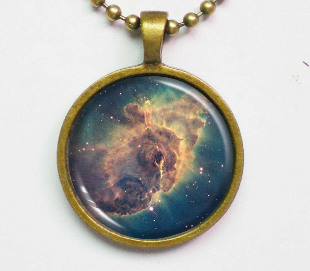 Nebula Necklace - Carina Nebula Space Photo - Galaxy Series
