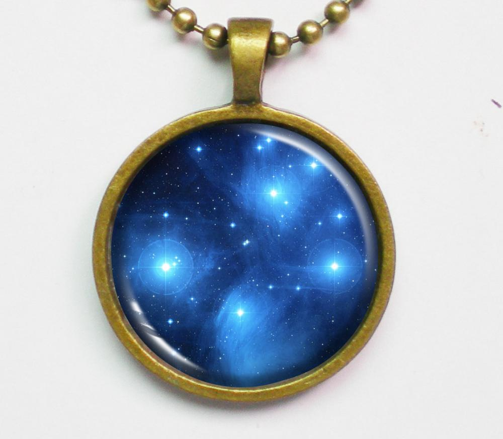 Interstellar Necklace - Star Cluster Pleiades, Seven Sisters, Constellation,M45 - Galaxy Series