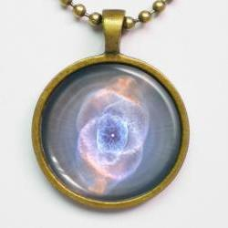Nebula Image Necklace - Fantasy Cat's Eye Nebula Necklace - Galaxy Series