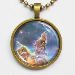 Carina Nebula Necklace -Hubble Telescope Photo Necklace- Galaxy Series